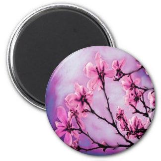 Pretty Pink Flowers Refrigerator Magnet