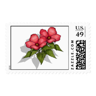 Pretty Pink Flowers: Springtime, Summer: Art Postage