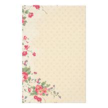 Pretty Pink Flowers Stationery