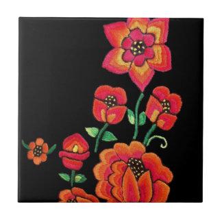 Pretty Pink Flowers Ceramic Tile