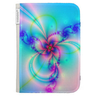 Pretty Pink Fractal Flower Kindle 3G Cases