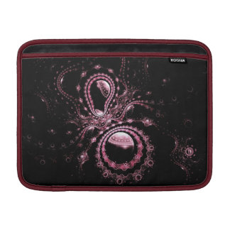Pretty Pink Fractal Planets Sleeve For MacBook Air