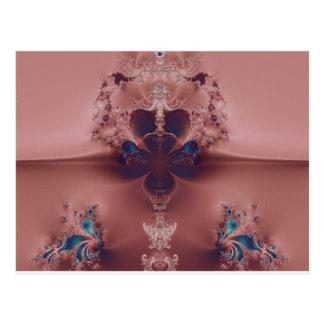 Pretty Pink Fractal Postcard