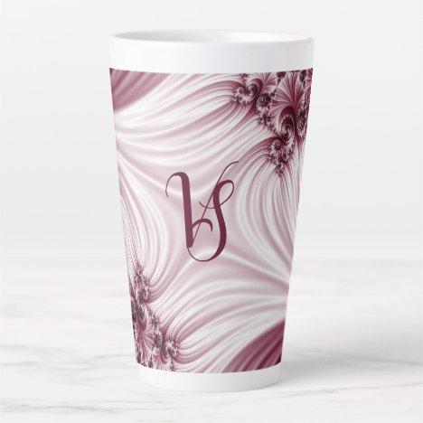 Pretty pink fractal. Silk imitation. Add monogram. Latte Mug
