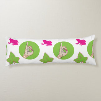 Pretty Pink Frog Body Pillow