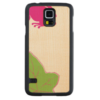 Pretty Pink Frog Carved® Maple Galaxy S5 Case
