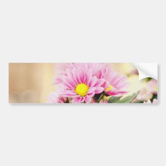 Pretty pink garden flowers bumper sticker