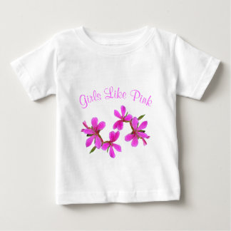 pretty pink garden flowers, girls like pink baby T-Shirt