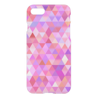 Pretty Pink Geometric Triangle Clear iPhone Case