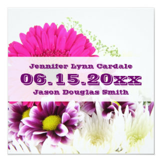 Pretty Pink Gerber Daisy and Purple Wedding Set Announcement