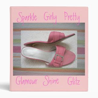 Pretty Pink Girly Binder
