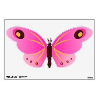 Pretty Pink Girly Butterfly Wall Decals