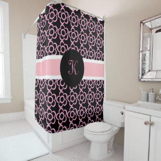 pretty pink u0026amp girly wdaisies u0026amp monogram shower curtain