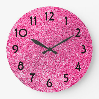 Pink Wall Clocks Zazzle