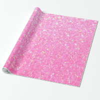 Pretty Pink Glitter Wrapping Paper