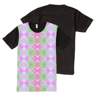 Pretty pink green design All-Over print shirt