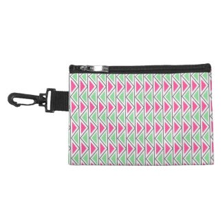 Pretty Pink Green Gray Triangle Tribal Pattern Accessories Bags