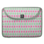 Pretty Pink Green Gray Triangle Tribal Pattern Sleeve For MacBook Pro