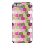 Pretty Pink Green Mulberry Patchwork Quilt Design Barely There iPhone 6 Case