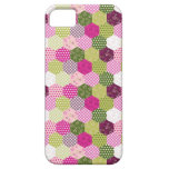 Pretty Pink Green Mulberry Patchwork Quilt Design iPhone 5 Covers