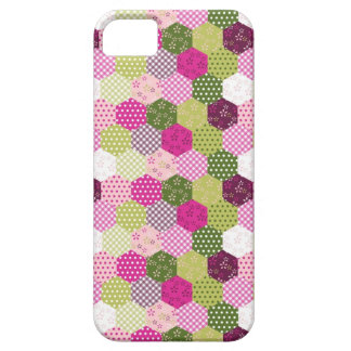Pretty Pink Green Mulberry Patchwork Quilt Design iPhone SE/5/5s Case