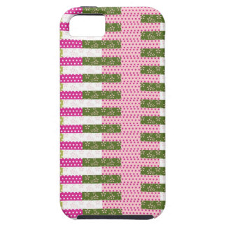 Pretty Pink Green Patchwork Quilt Design Gifts iPhone 5 Covers
