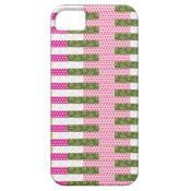 Pretty Pink Green Patchwork Quilt Design Gifts iPhone 5 Cover