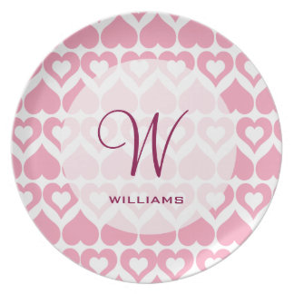 Pretty Pink Heart Home & Kitchen Gifts Dinner Plate