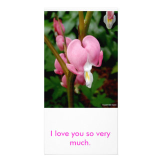 Pretty Pink Heart Photo Card Personalized Photo Card