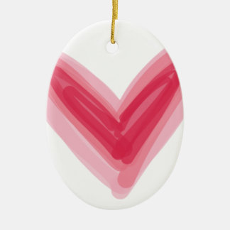 Pretty Pink Heart Print, Beautiful Spring Love Hea Ceramic Ornament