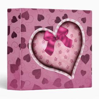 Pretty Pink Heart Vinyl Binders