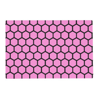 Pretty Pink Hexagon 4 Placemat