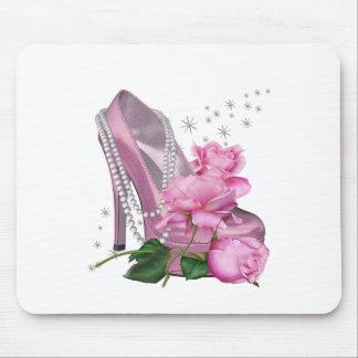 Pretty Pink Hi Heel Rose Mousepads