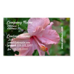 Pretty Pink Hibiscus Business Card Templates