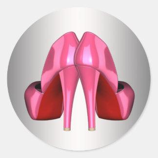 Pretty Pink High Heel Shoe Stickers