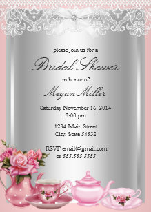 high tea invitations zazzle