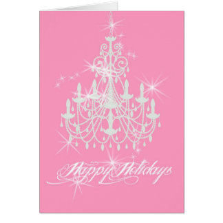 Pretty Pink Holiday Card