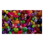 Pretty Pink Jewelry Beads Poster