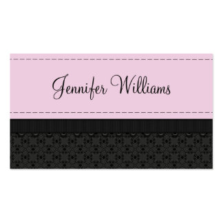 Pretty Pink Label Ribbon Business Cards