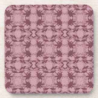 Pretty Pink Lace Floral Pattern  Coasters