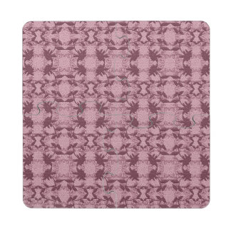 Pretty Pink Lace Floral Pattern Coasters Puzzle Coaster