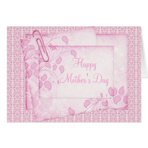 Pretty Pink Lace & Paper Mother's Day Card