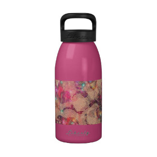 Pretty Pink Lace Roses Water Bottles