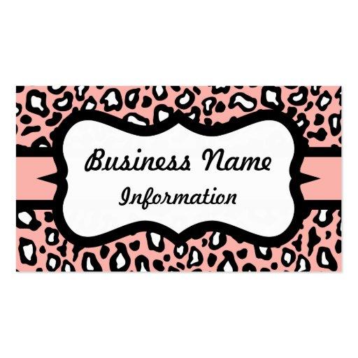 Pretty Pink Leopard Business Card