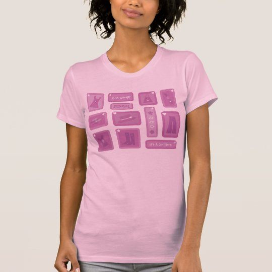 Pretty Pink & Lilac Girl Stuff Tee Shirt