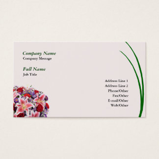 Pretty Pink Lilies Business Card Template