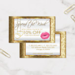 Pretty Pink Lipstick Business Referral Business Card