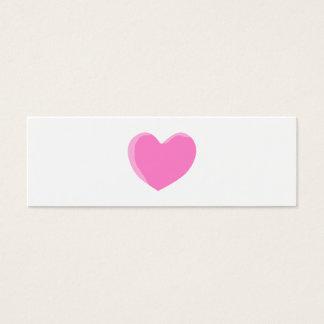 Pretty Pink Love Heart. Mini Business Card