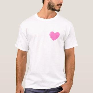 Pretty Pink Love Heart. T-Shirt