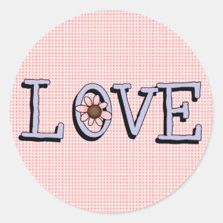 Pretty Pink Love Stickers Seals